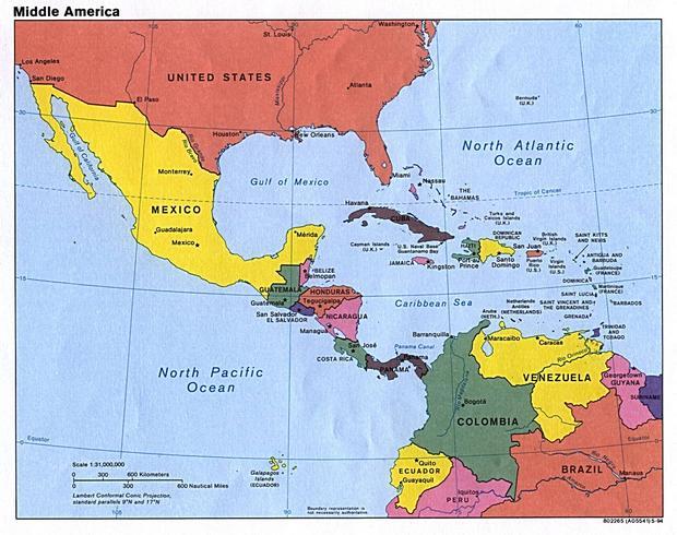 Отдых в центральной Америке